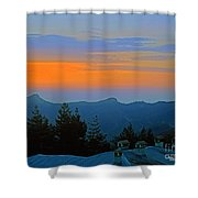 Dawn Over Cross Forest Shower Curtain