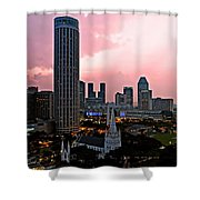 Dawn Over Singapore Shower Curtain