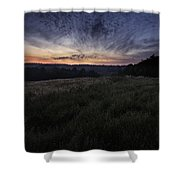Dawn Over The Hills Shower Curtain