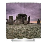 Dawn Over The Stones  Shower Curtain