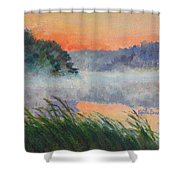 Dawn Reflection Study Shower Curtain