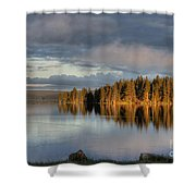 Dawn Reflections On Pelican Bay Shower Curtain