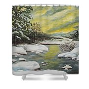 Dawning Of A Winter Day Shower Curtain