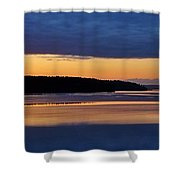 Dawning Of The Mountain Shower Curtain