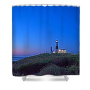 Dawn's Early Light At Montauk Point Shower Curtain
