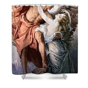 Day And The Dawnstar Shower Curtain