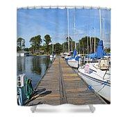 Sailboats On The Boardwalk Shower Curtain