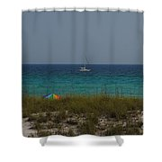 Day In Paradise Shower Curtain