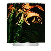 Day Lily At Night Shower Curtain