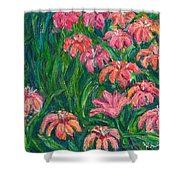 Day Lily Rush Shower Curtain