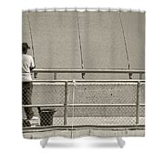 Day Of Fishing Shower Curtain