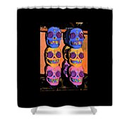 Day Of The Dead Ink Shower Curtain