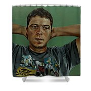 Day Portrait Of A Young Man Shower Curtain
