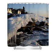 Daybreak At Cove Point Lodge Cottages Shower Curtain