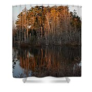 Daybreak At The Pond Shower Curtain