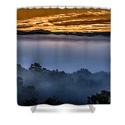 Daybreak Coming To The Smoky Mountains E150 Shower Curtain