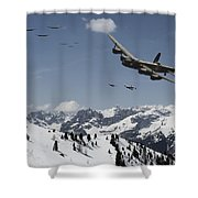 Daylight Raid Shower Curtain