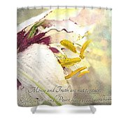 Daylily Photoart With Verse Shower Curtain
