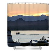 Days End At The Lake Shower Curtain