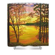 Day's End On Lake Talquin Shower Curtain
