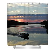 Day's End On The Sebec River Shower Curtain