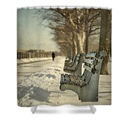 Days Of Cold Chills Shower Curtain