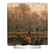 Days Of Long Ago Shower Curtain