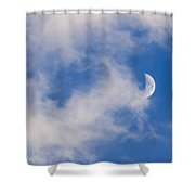 Daytime Moon Shower Curtain