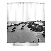 Daytona Beach, Florida. Shower Curtain