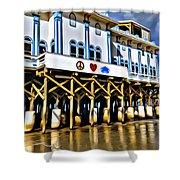 Daytona Beach Pier Shower Curtain