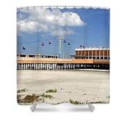 Daytona Beach Pier Pano Shower Curtain