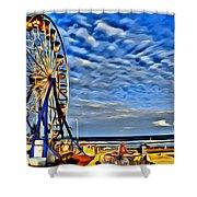 Daytona Ferris Wheel Shower Curtain