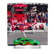 Daytona Speedway Race View Shower Curtain