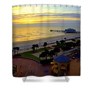 Daytona's Dawn Shower Curtain