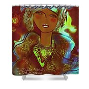 Dazzle Neck Collection Shower Curtain