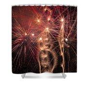 Dazzling Fireworks Shower Curtain
