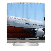 Dc-10 Air Tanker At Rapid City Shower Curtain