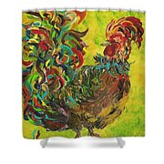 De Colores Rooster #2 Shower Curtain
