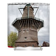 De Gooyer Windmill In Amsterdam Shower Curtain
