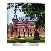 De Haar Castle 3. Utrecht. Netherlands Shower Curtain