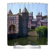 De Haar Castle And Moat Shower Curtain