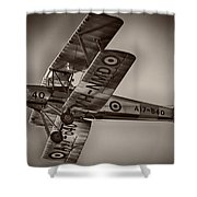 De Havilland Dh-82a Tiger Moth V5 Shower Curtain