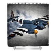 de Havilland Mosquito PR.Mk XVI Shower Curtain