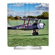 De Havilland Tiger Moth Shower Curtain