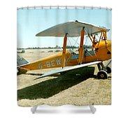 De-havilland Tiger Moth Shower Curtain