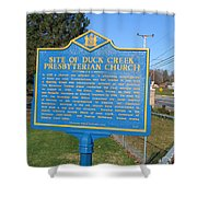 De-kc81 Site Of Duck Creek Presbyterian Church Shower Curtain
