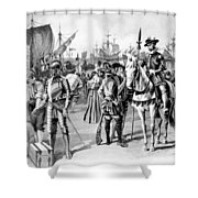 De Soto Departure, 1538 Shower Curtain
