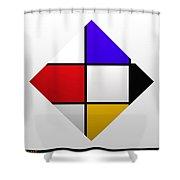 De Stijl Diamond Shower Curtain