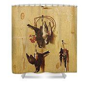 Dead Birds Oil On Canvas Shower Curtain
