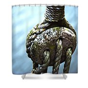 Dead Eye - Nautical Art  Shower Curtain